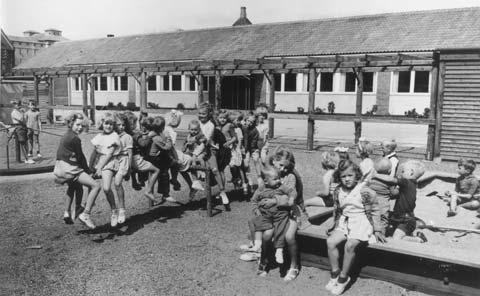 Vestre Skoles børnehave Pavillonen ca. 1951