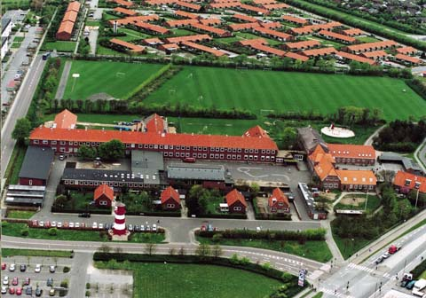 Sædding Skole set fra luften, anno 2002